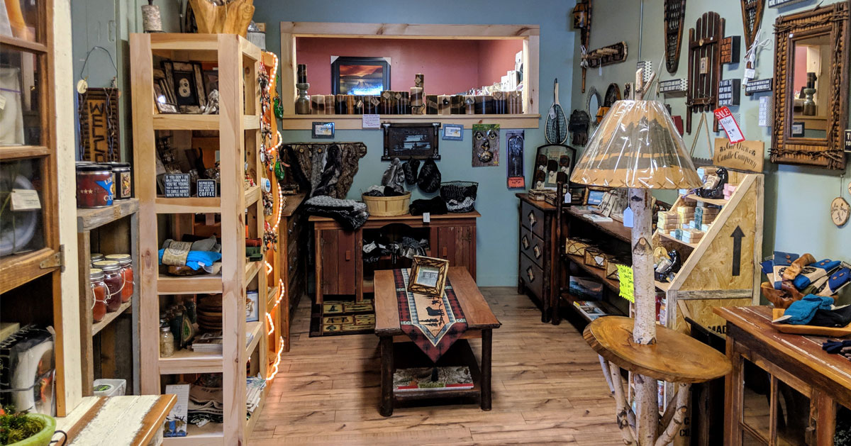 a store with rustic items