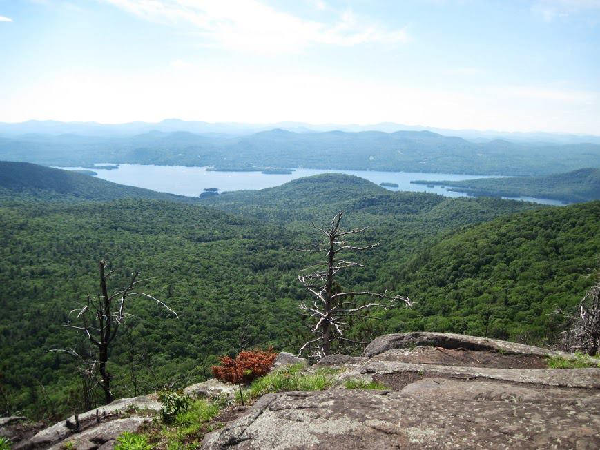view from sleeping beauty mountain lake george ny
