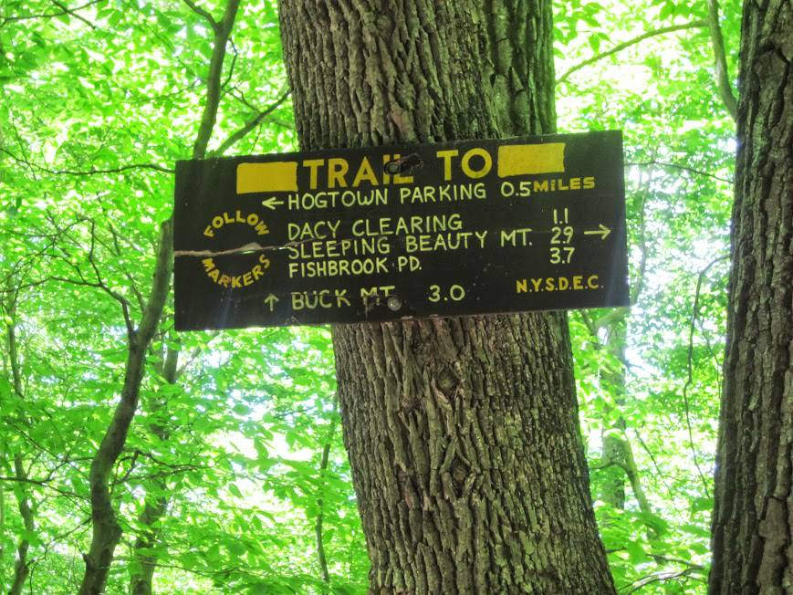 sign on sleeping beauty mountain trail