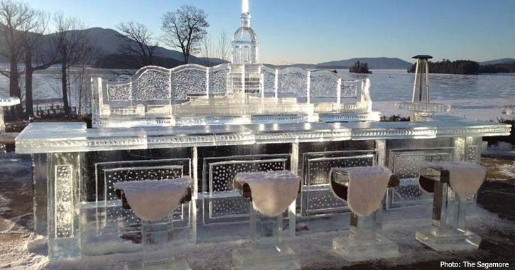 ice bar at sagamore