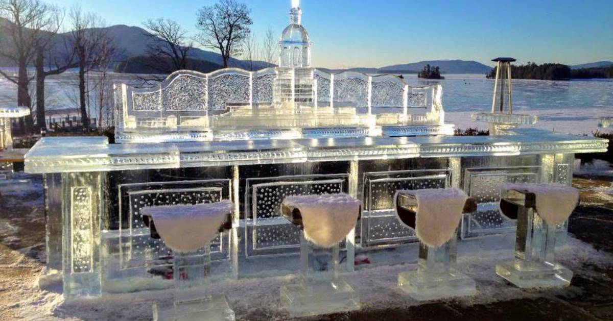 ice bar with stools