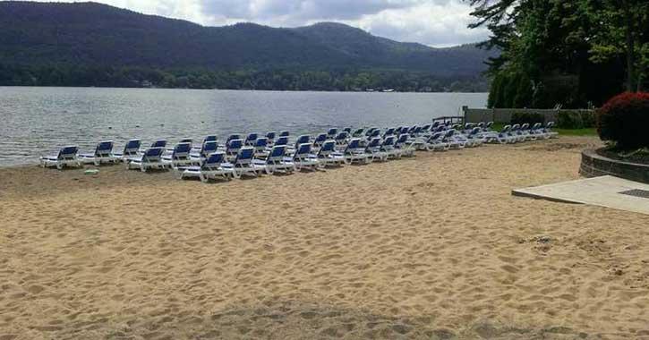 private beach at marine village resort