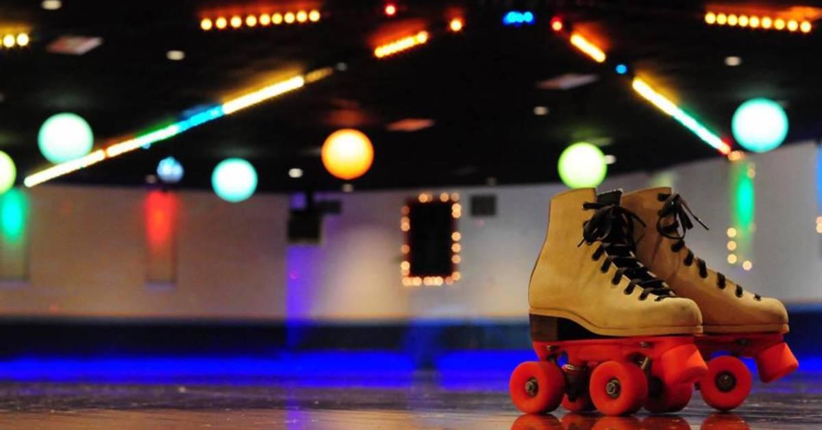 pair of roller skates on the floor