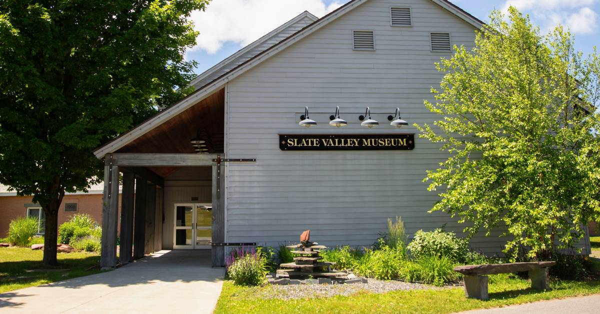 the outside of the Slate Valley Museum