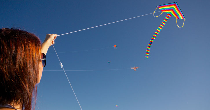 best places to fly a kite in lake george