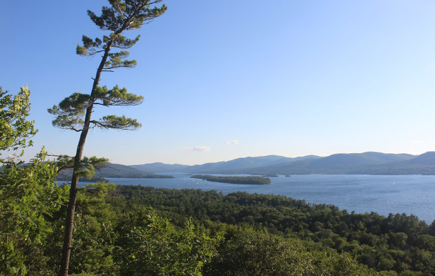 view of lake george from stewarts ledge
