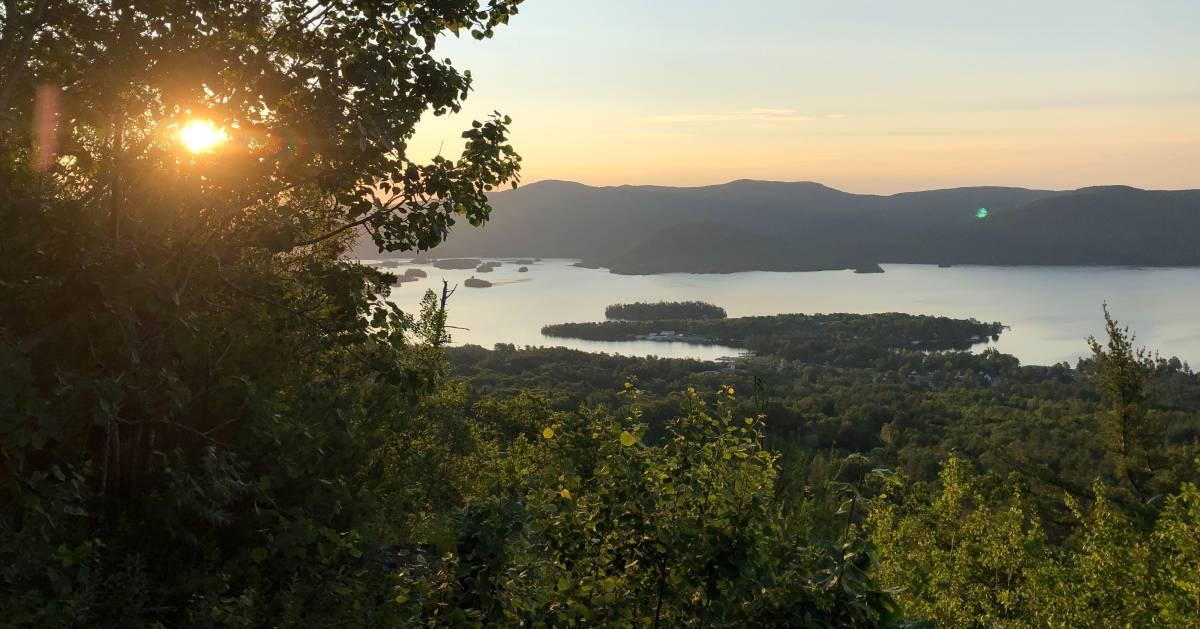 sunset at summit