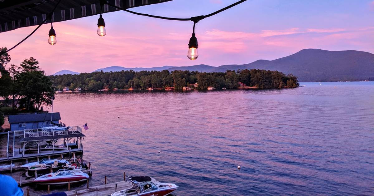 pink and purple at sky during sunset over a lake