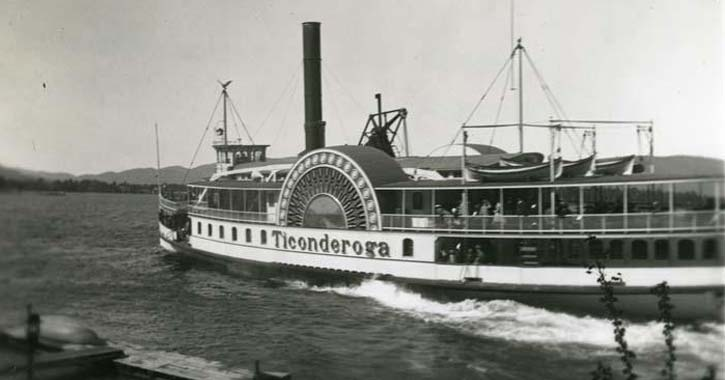 ticonderoga steamboat on lake george