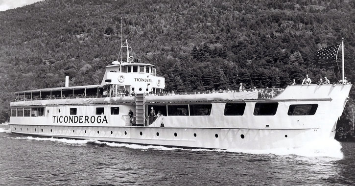 the second Ticonderoga steamboat