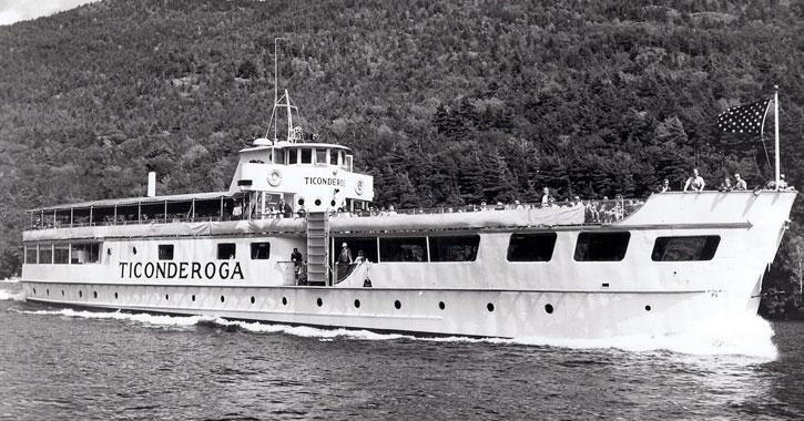 the second Ticonderoga steamboat