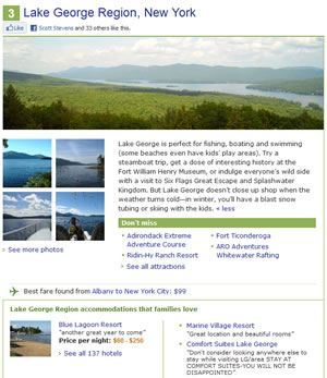 Lake George Ranks 3rd On TripAdvisor's 10 Great Places To Discover