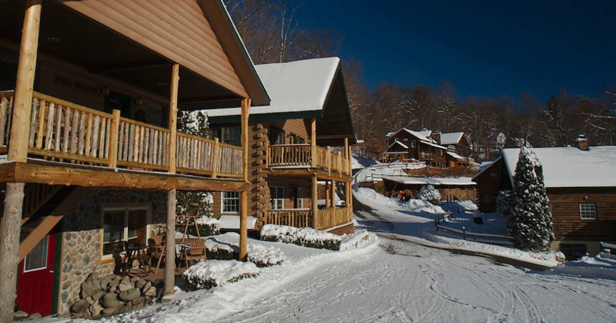 cabins in the winter