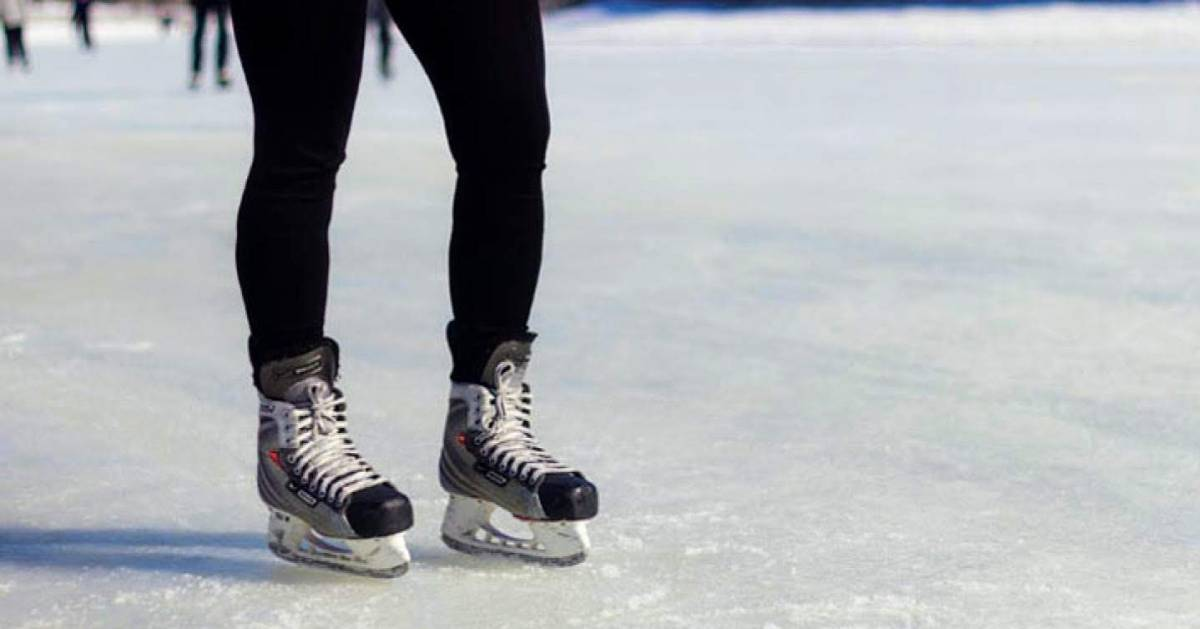 close up of ice skating