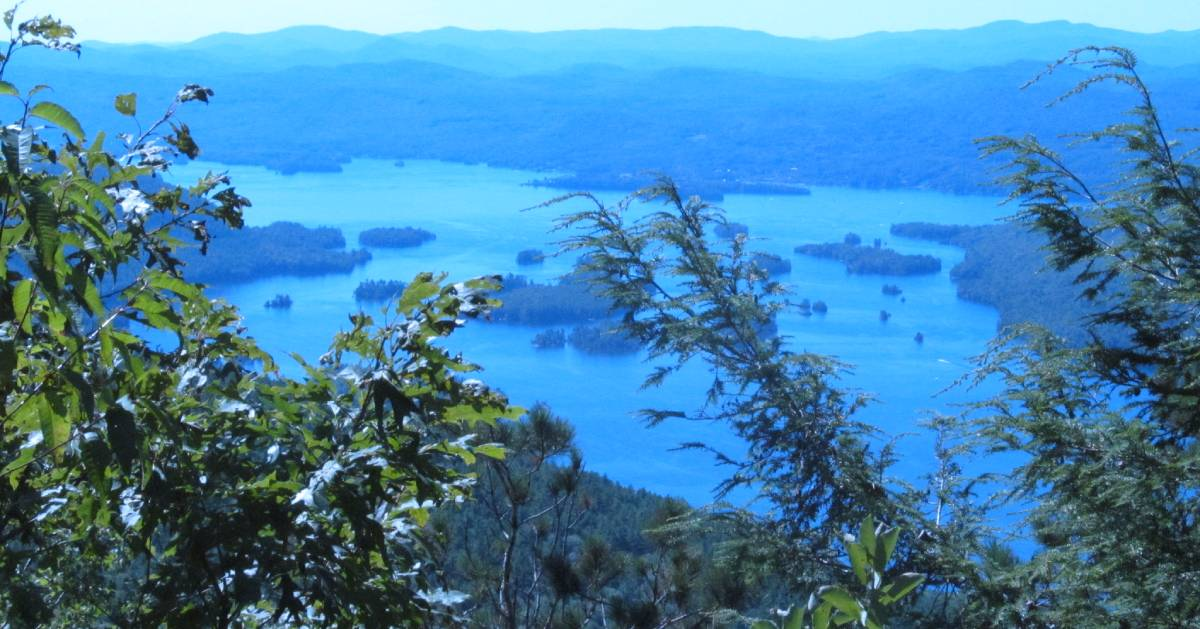 view of lake from summit