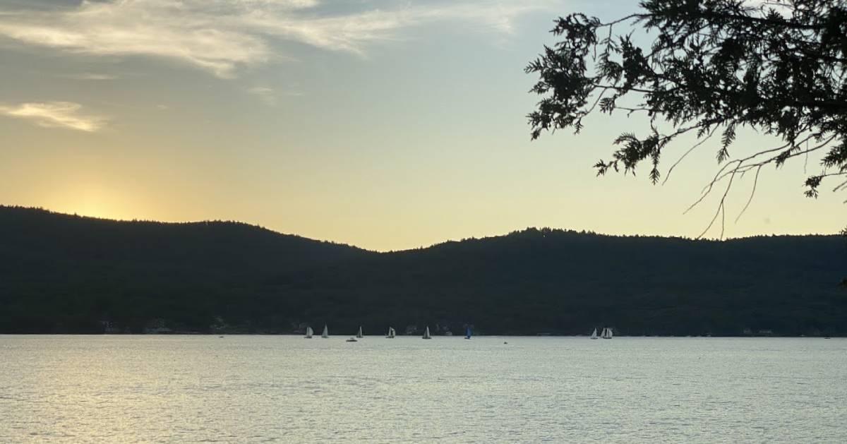 view of sailboats