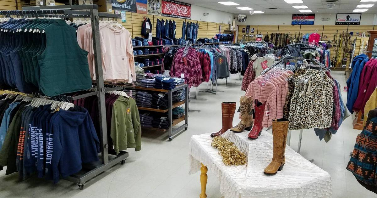 inside of a clothing store