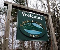 Town of Bolton Ny Welcome Sign