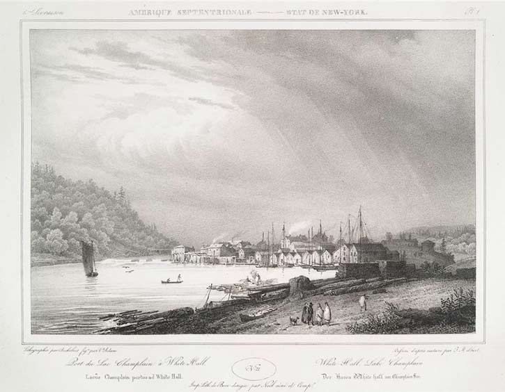 old drawing of Whitehall