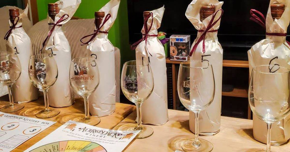a wine tasting game from Adirondack Winery