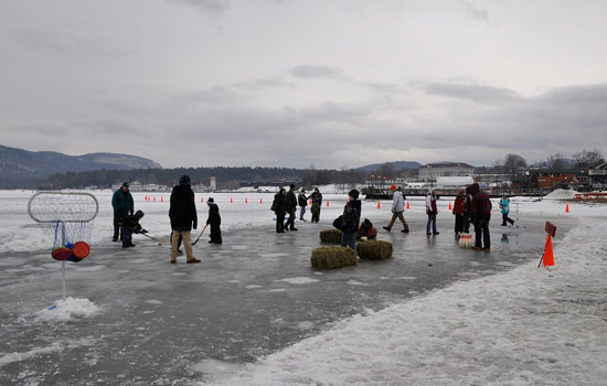 winter carnival on the ice playing games
