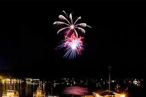 winter fireworks lake george
