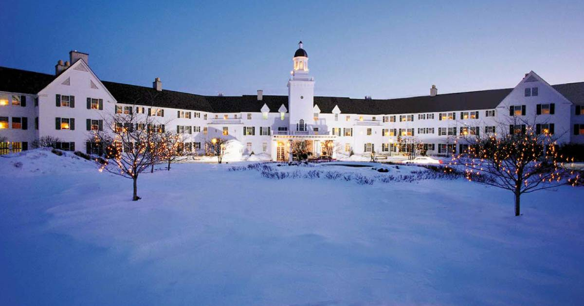 The Sagamore in the winter covered in snow