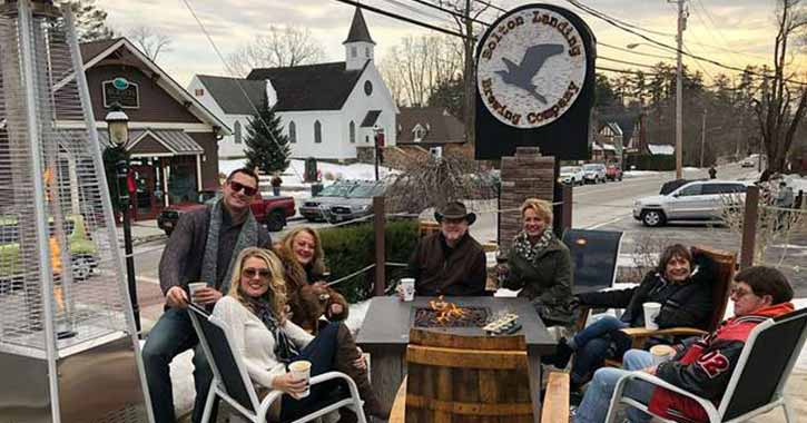 Outside Firepit at Bolton Landing Brewing Company
