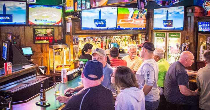 Bar area at O'Toole's Restaurant Pub