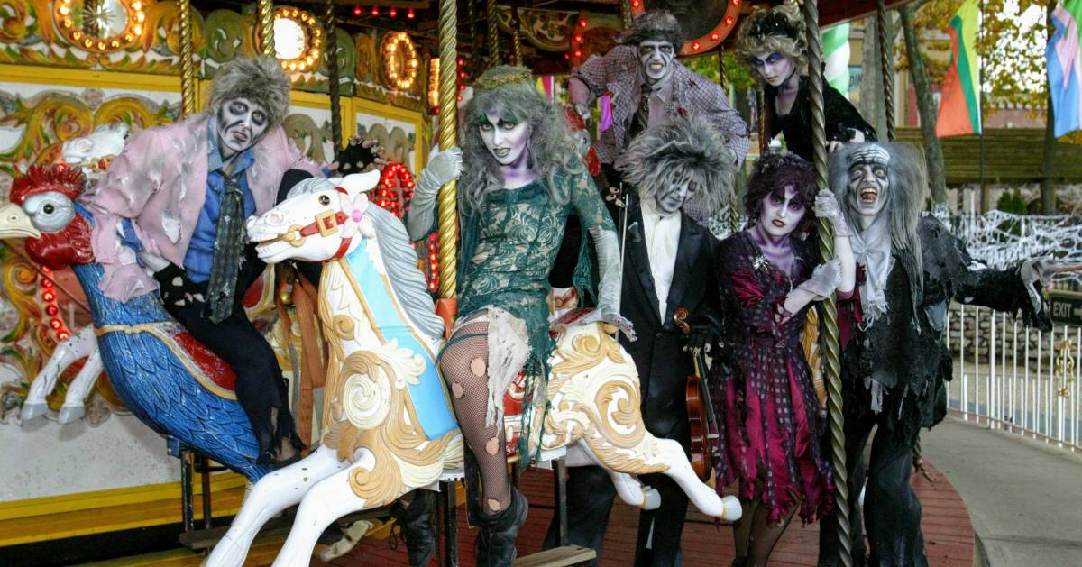 zombies on a carousel