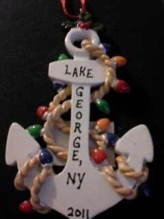 LG Anchor Ornament