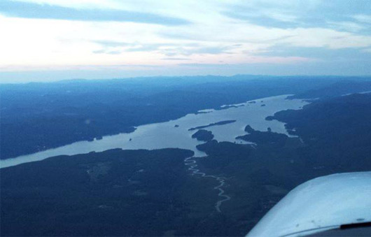 aerial view of lake george
