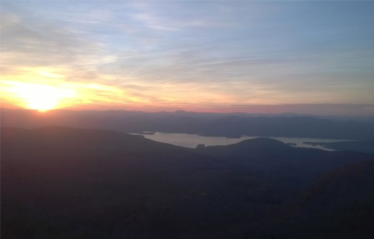 sunset from the summit of sleeping beauty