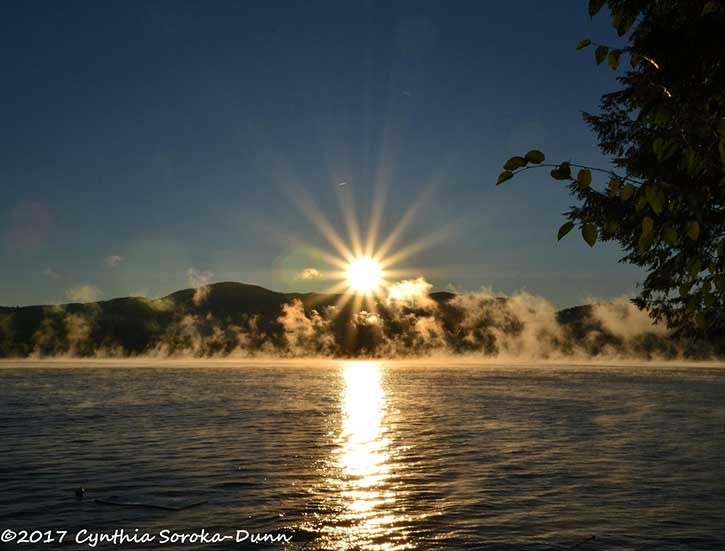 sunrise on lake george