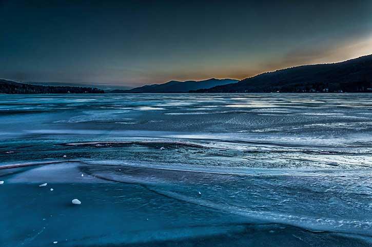 icey lake george
