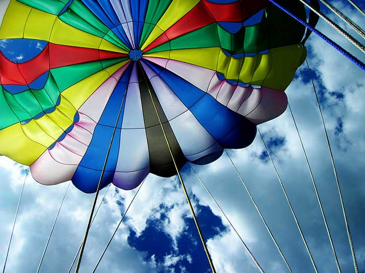 parasailing on lake george