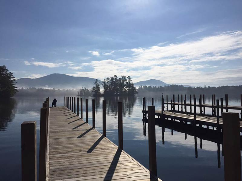 View of Lake George from the docks at Algonquin Restaurant