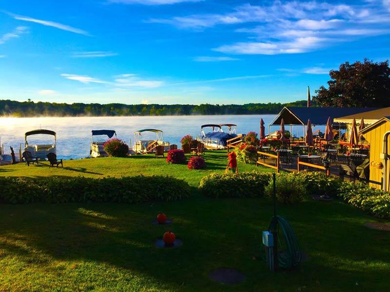 View of Glen Lake from The Docksider Restaurant