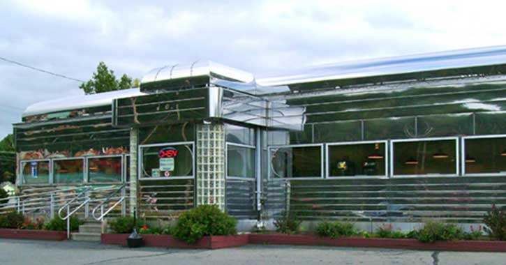 Exterior view of Prospect Mountain Diner