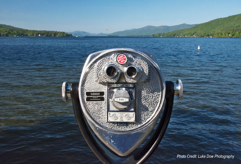 viewfinder overlooking lake george