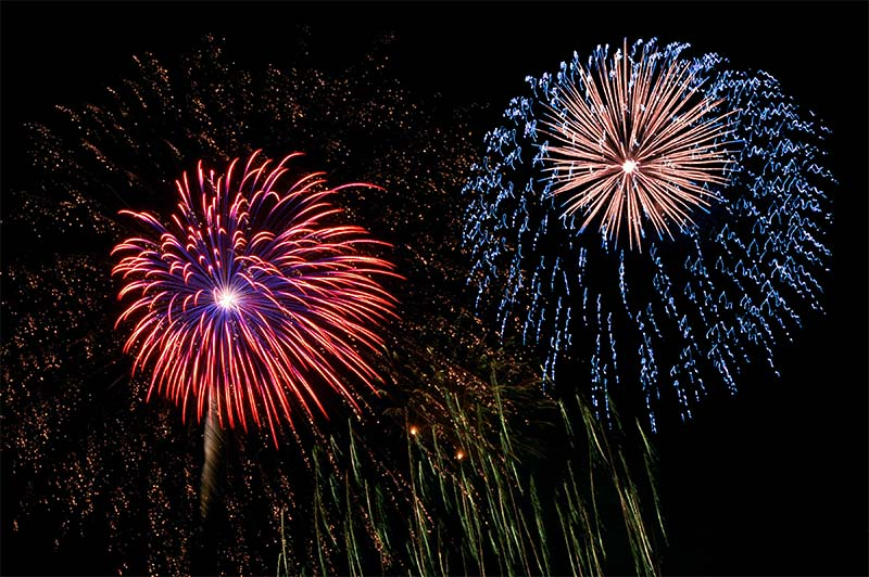 Fireworks display at the Schoharie County Fair
