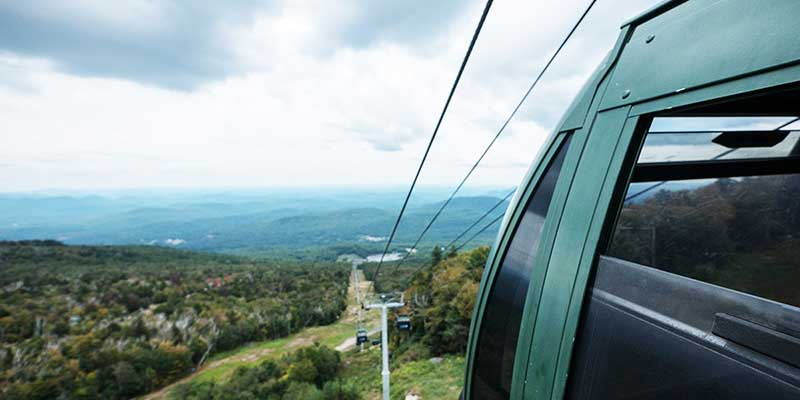 Summer view from a Gore Mountain Gondola