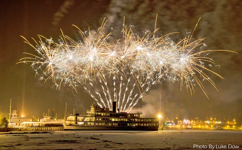 New Year's Fireworks Behind The Lac Du Saint Sacrement