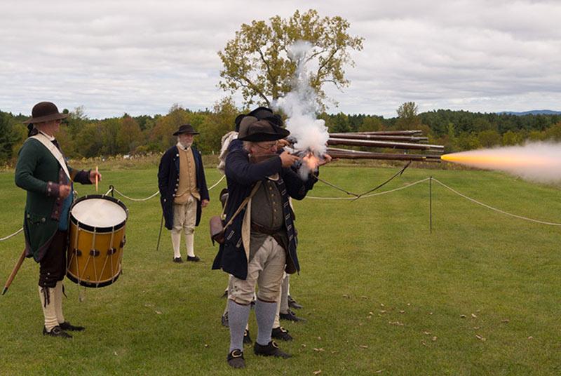 Revolutionary War Re-enactment at Saratoga Battlefield