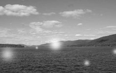 Spirit orbs floating above Lake George
