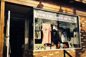For The Love of Dog Shop in Lake George Village