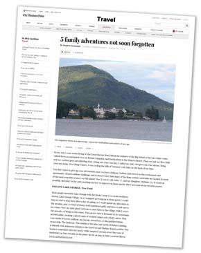 Boston Globe Lake George