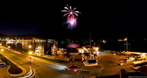 fireworks lake george
