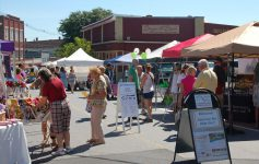 ticonderoga streetfest tents and attendees