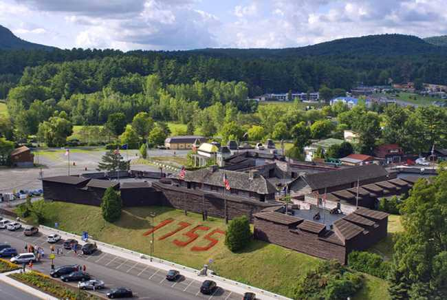 aerial view of fort william henry